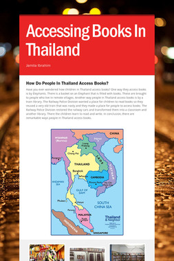 Accessing Books In Thailand