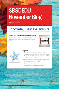 SBSDEDU November Blog
