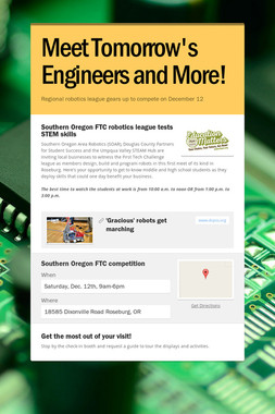 Meet Tomorrow's Engineers and More!