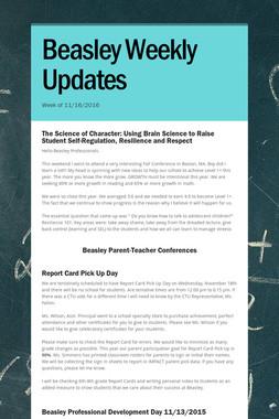 Beasley Weekly Updates