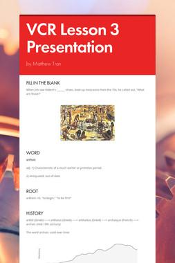 VCR Lesson 3 Presentation