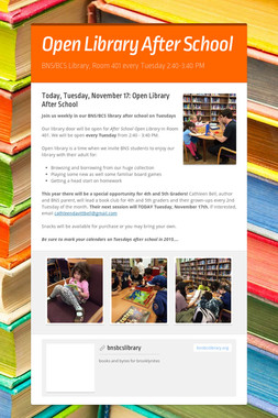 Open Library After School