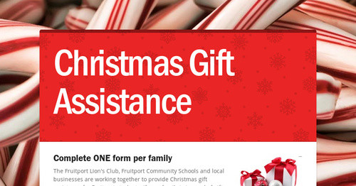 Christmas Gift Assistance | Smore Newsletters