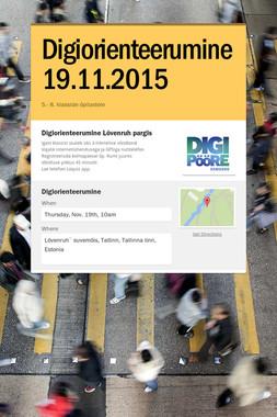 Digiorienteerumine 19.11.2015