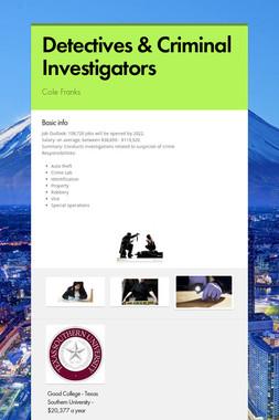 Detectives & Criminal Investigators