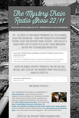 The Mystery Train Radio Show 22/11