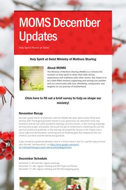 MOMS December Updates