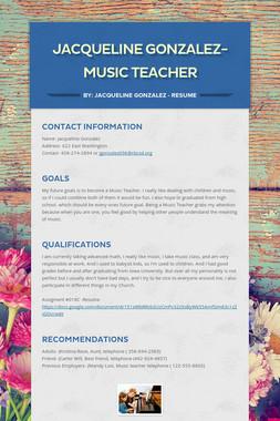 Jacqueline Gonzalez- Music Teacher