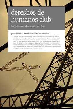 dereshos de humanos club