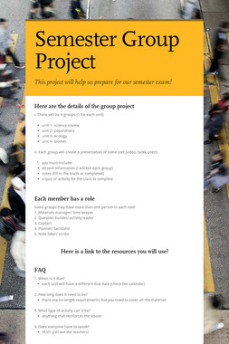 Semester Group Project