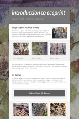 introduction to ecoprint