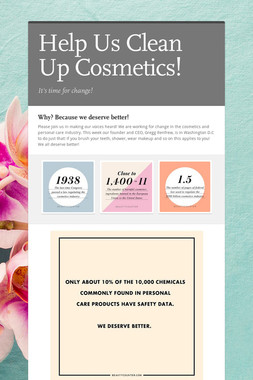 Help Us Clean Up Cosmetics!