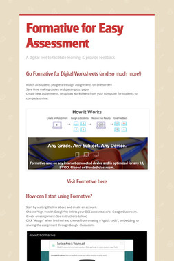 Formative for Easy Assessment