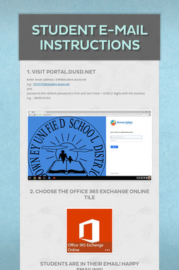Student E-Mail Instructions
