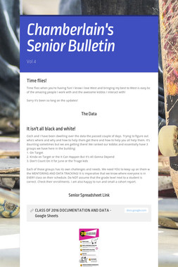 Chamberlain's Senior Bulletin