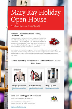 Mary Kay Holiday Open House