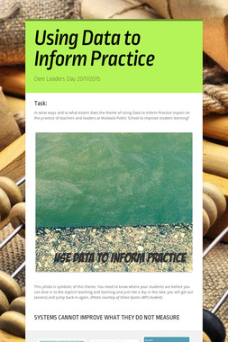 Using Data to Inform Practice