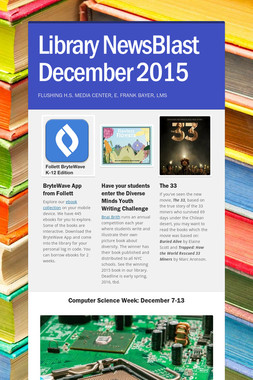Library NewsBlast  December  2015