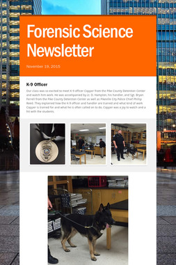 Forensic Science Newsletter