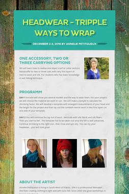 headwear - tripple ways to wrap