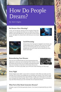How Do People Dream?