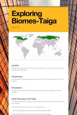 Exploring Biomes-Taiga