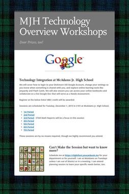 MJH Technology Overview Workshops