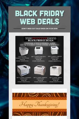 BLACK FRIDAY WEB DEALS