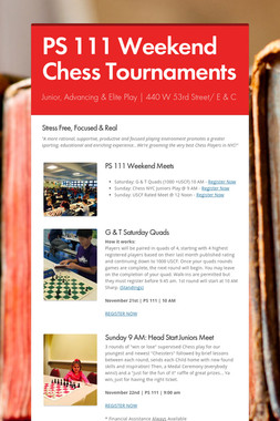 PS 111 Weekend Chess Tournaments
