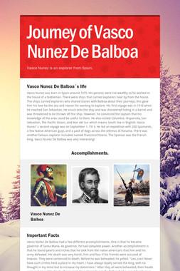 Journey of Vasco Nunez De Balboa