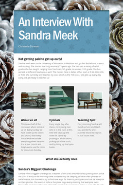An Interview With Sandra Meek
