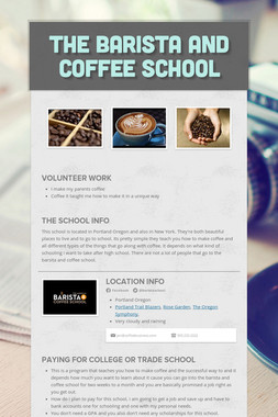 The barista and coffee school