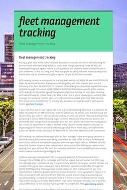 fleet management tracking