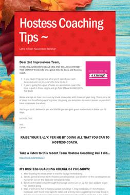 Hostess Coaching Tips ~
