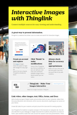 Interactive Images with Thinglink