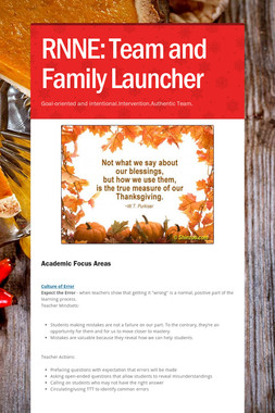 RNNE: Team and Family Launcher