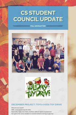 CS Student Council Update