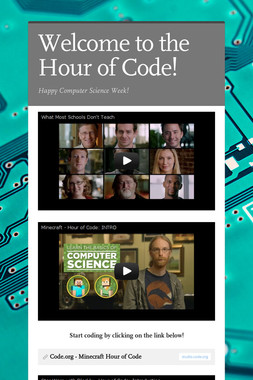 Welcome to the Hour of Code!