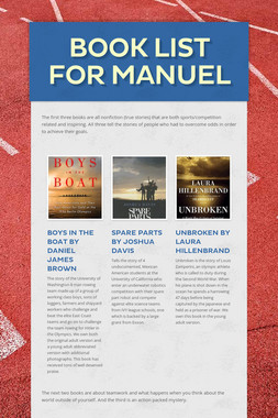 Book List for Manuel
