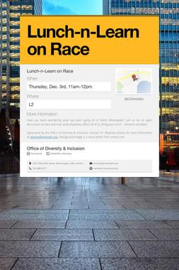 Lunch-n-Learn on Race