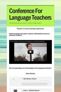 Conference For Language Teachers
