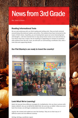 News from 3rd Grade