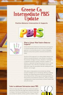 Greene Co Intermediate PBIS Update