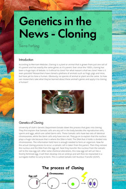 Genetics in the News - Cloning