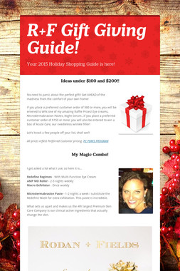 R+F Gift Giving Guide!