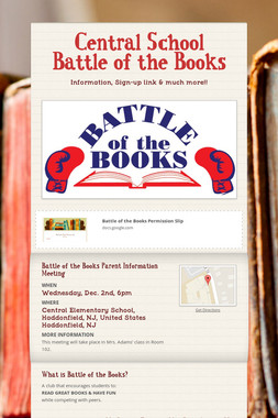 Central School Battle of the Books