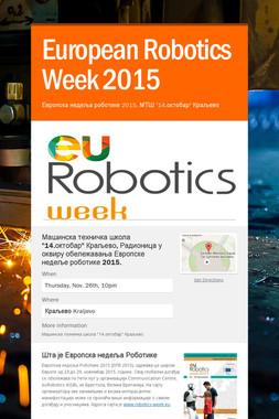 European Robotics Week 2015