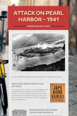Attack on Pearl Harbor - 1941