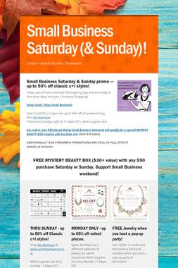 Small Business Saturday (& Sunday)!