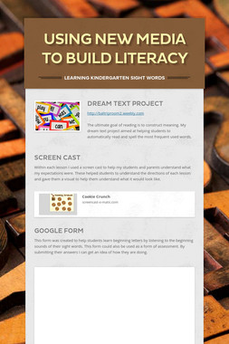 Using New Media To Build Literacy
